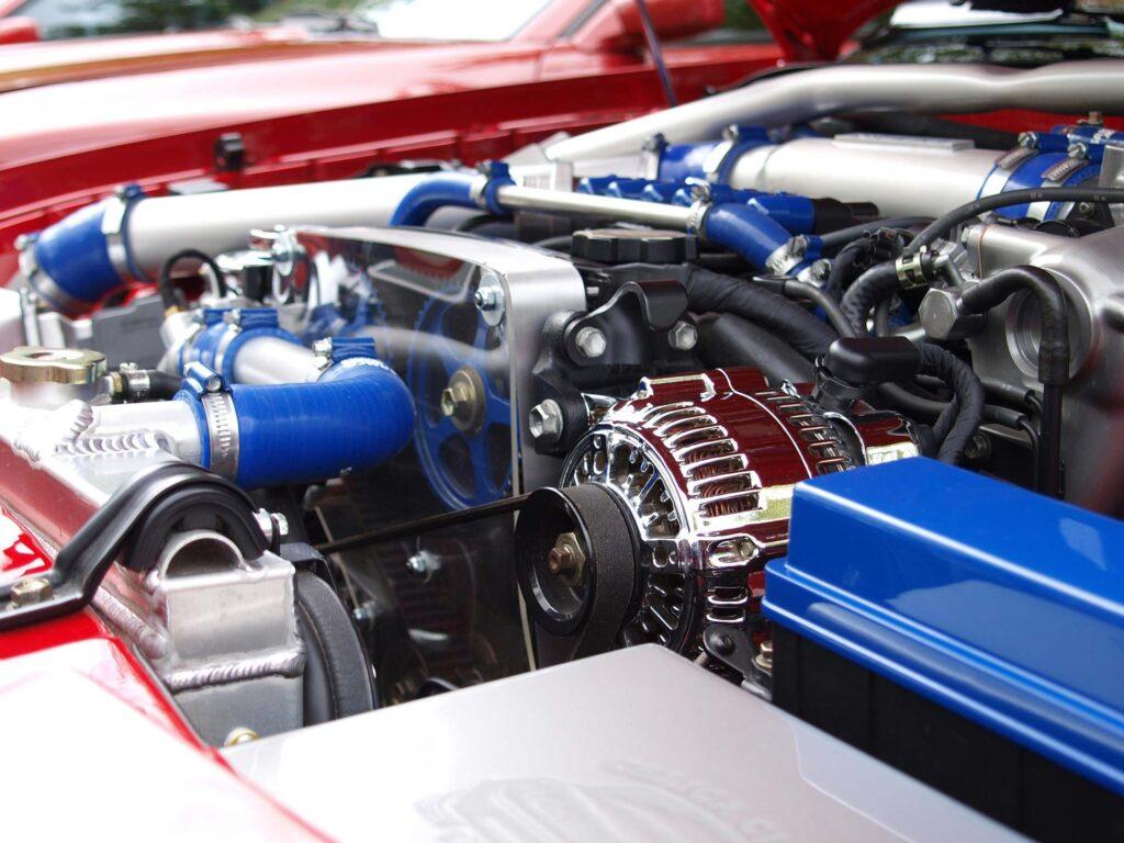 Bild eines Motor-Service